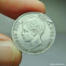 Monedas de España: 50 CÉNTIMOS. PLATA. ALFONSO III. 1896 *9 *6. Lote 293572033