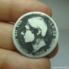 Monedas de España: 1 PESETA. PLATA. ALFONSO XII. 1885.. Lote 293572293