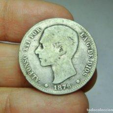 Monedas de España: 1 PESETA. PLATA. ALFONSO XII. 1876.. Lote 293574248