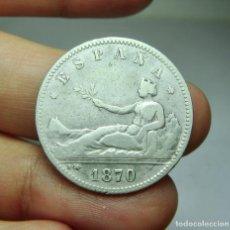 Monedas de España: 1 PESETA. PLATA. 1ª REPÚBLICA. 1870. Lote 293575693