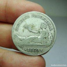 Monedas de España: 1 PESETA. PLATA. 1ª REPÚBLICA. 1869. Lote 293578183