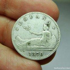 Monedas de España: 50 CÉNTIMOS. PLATA. 1ª REPÚBLICA. 1870 *7 *0. Lote 293578618