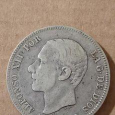 Monedas de España: 2 PESETAS 1882 *18-82 ESTRELLAS VISIBLES - ALFONSO XII - PLATA - 9,78G. Lote 294103218
