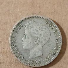 Monedas de España: 50 CÉNTIMOS 1900 *00 - ALFONSO XIII - PLATA - 2,43G. Lote 294104753