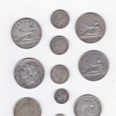 Monedas de España: ESPAÑA- LOTE DE 11 MONEDAS DE PLATA. Lote 294495823