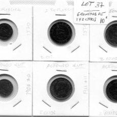 Monedas de España: 6 MONEDAS DE UNO Y DOS CENTIMOS ( LOT37 ). Lote 294498198