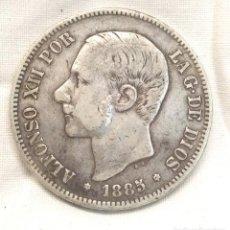 Monedas de España: ALFONSO XII AÑO 1885 DE PLATA MONEDA 5 PESETAS. Lote 294825143