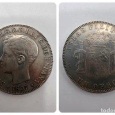 Monedas de España: MONEDA. FILIPINAS. ALFONSO XIII. 1 PESO. 25 GR. 1897. VER FOTOS. Lote 294826523