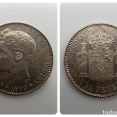Monedas de España: MONEDA. ESPAÑA. ALFONSO XIII. 1 PESETA. 1900. ESTRELLAS *19-00*. S/C. VER FOTOS. Lote 295044618