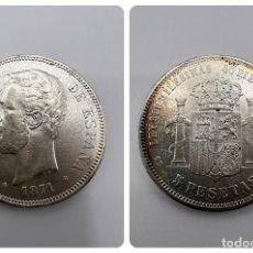 Monedas de España: MONEDA. ESPAÑA. AMADEO I. 1871. 5 PESETAS. ESTRELLAS *18-71*. SDM. VER FOTOS. Lote 295407573