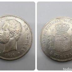 Monedas de España: MONEDA. ESPAÑA. AMADEO I. 1871. 5 PESETAS. ESTRELLAS *18-71*. SDM. VER FOTOS. Lote 295407728