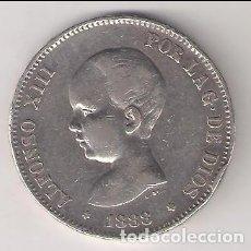 Monedas de España: MONEDA 5 PESETAS (DURO) ALFONSO XIII DE 1888 *18-88. CECA MADRID. ENSAYADOR MSM. PLATA. (AL13-3). Lote 295635668