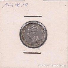 Monedas de España: ESPAÑA - 50 CENTIMOS DE PLATA DE 1904 1*0* - ALFONSO XIII. Lote 295721188