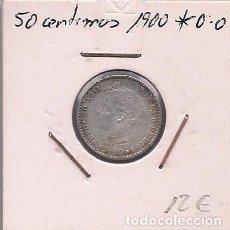Monedas de España: ESPAÑA - 50 CENTIMOS DE PLATA DE 1900 0*0* - ALFONSO XIII. Lote 295721538