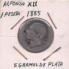 Monedas de España: ESPAÑA - 1 PESETA DE PLATA DE 1885 - ALFONSO XII. Lote 295724218
