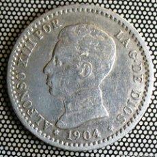 Monedas de España: 50 CENTIMOS DE PLATA DE 1904 . ESTRELLAS 1 - 0 . ALTA CALIDAD EBC ALFONSO XIII. Lote 295735228