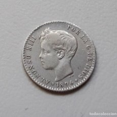 Monedas de España: ALFONSO XIII 50 CÉNTIMOS PLATA 1896 *9-6 PGV MBC- . ESCASA. Lote 295834408