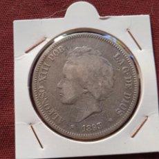 Monedas de España: DURO DE 5 PESETAS DE PLATA DE 1883 PG V. Lote 296005558