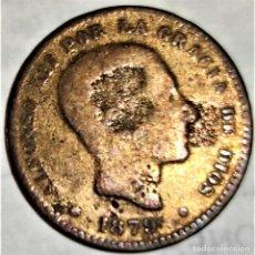 Monedas de España: ESPAÑA - 5 CENTIMOS 1879 OM - ALFONSO XII - 5,25 GR. BRONCE - DIAMETRO 25 MM - KM#674 - B. Lote 296625718