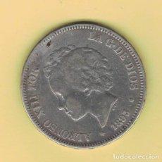 Monedas de España: ALFONSO XIII 5 PESETAS MADRID 1893 PGV M149. Lote 296766298