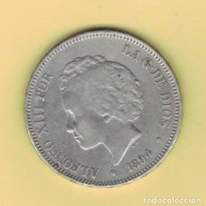 Monedas de España: ALFONSO XIII 5 PESETAS MADRID 1894 PGV M150. Lote 296766473