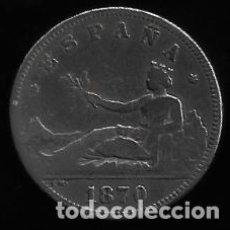 Monedas de España: MONEDA DE 2 PESETA - PLATA - ALFONSO XII -- 1870. Lote 296941803