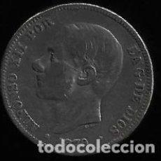 Monedas de España: MONEDA DE 2 PESETAS - PLATA - ALFONSO XII - 1879. Lote 296942133