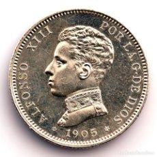 Monedas de España: SPAIN-ALFONSO XIII. 2 PESETAS 1905*19-05. MADRID. SC-/UNC- PLATA 10,1 G.. Lote 296948338