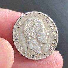 Monedas de España: ALFONSO XIII MANILA 20 CENTAVOS 1885. Lote 297024323