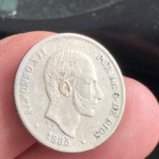 Monedas de España: ALFONSO XIII MANILA 10 CENTAVOS 1885. Lote 297025918