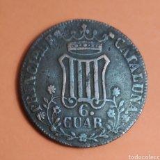 Monedas de España: ISABEL II * 1841 * 6 CUART, CATALUÑA. Lote 297032148