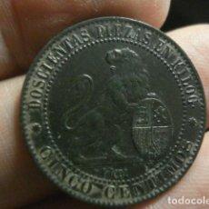 Monedas de España: PRIMERA REPUBLICA - 5 CÉNTIMOS 1870 - PRECIOSA REVERSO PERFECTO - ANVERSO PEQUEÑA CONCRECCIÓN. Lote 297124533