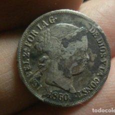 Monedas de España: ESPAÑA - ISABEL II - 2 REALES DE PLATA - 1860 BARCELONA - A LIMPIAR. Lote 297124688