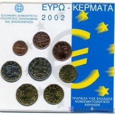 Euros: EUROSET , SET DE EUROS, CARTERA 2002 GRECIA 2002. Lote 26479513