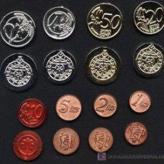 Euros: PRUEBA PRE- EURO LOGROÑO-MENORCA 8 COIS PLASTICO. Lote 152494356