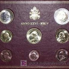 Euros: CARTERA OFICIAL EUROS VATICANO 2004. Lote 25274806