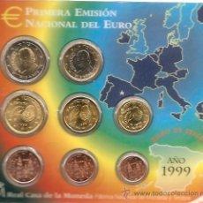 Euros: EUROS ESPAÑA CARTERA OFICIAL (EURO SET) 1999. SIN CIRCULAR.. Lote 194405827