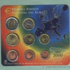 Euros: PRIMERA EMISIÓN NACIONAL DEL EURO. FLOR DE CUÑO. AÑO 2000. Lote 89610311