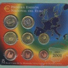 Euros: PRIMERA EMISIÓN NACIONAL DEL EURO. FLOR DE CUÑO. AÑO 2001.. Lote 27134300