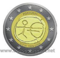 MONEDA 2 EUROS CONMEMORATIVA PORTUGAL EMU 2009 (Numismática - España Modernas y Contemporáneas - Ecus y Euros)