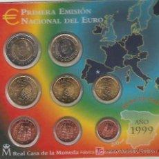 Euros: CARTERA OFICIAL EUROS ESPAÑA 1999. Lote 25933989