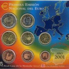 Euros: CARTERA OFICIAL EUROS ESPAÑA 2001. Lote 25933991