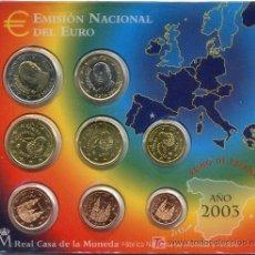 Euros: CARTERA OFICIAL EUROS ESPAÑA 2003. Lote 27571793