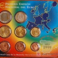 Euros: EURO SET ESPAÑA 1999 CARTERA. Lote 13067006