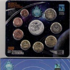 Euros: CARTERA EUROS SAN MARINO 2009. EMISIÓN OFICIAL (EURO SET) SIN CIRCULAR.. Lote 22540024