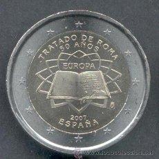 Euros: ESPAÑA 2 EUROS 2007 TRATADO DE ROMA. Lote 215839982