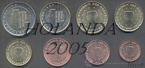 SERIE / SET / TIRA HOLANDA 2005 8 MONEDAS AL MEJOR PRECIO DE TODOCOLECCION (Numismática - España Modernas y Contemporáneas - Ecus y Euros)