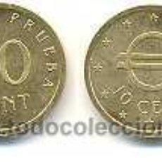 Euros: ESPAÑA 10 CÉNTIMOS PRUEBA CHURRIANA. Lote 269314233