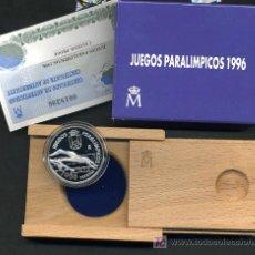 Euros: ESTUCHE 1000 PESETAS 1996 , PLATA , JUEGOS PARALIMPICOS. ORIGINAL FNMT. Lote 260055160