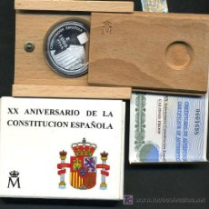 Euros: ESTUCHE 1000 PESETAS 1998, XX ANIVERSARIO CONSTITUCION ESPAÑOLA , PLATA PROF, ORIGINAL FNMT. Lote 49313293